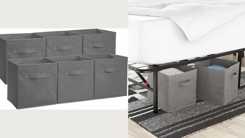 Amazon Basics Collapsible Fabric Storage Cubes
