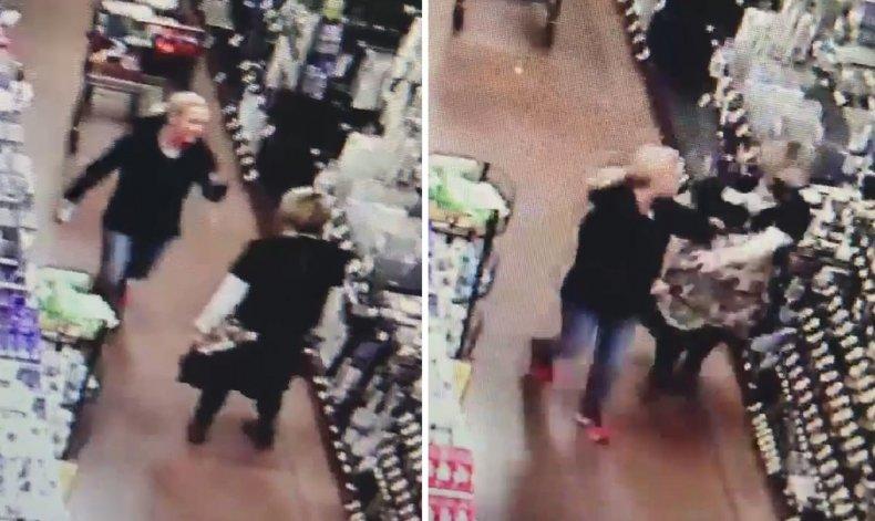 Stills from supermarket surveillance footage