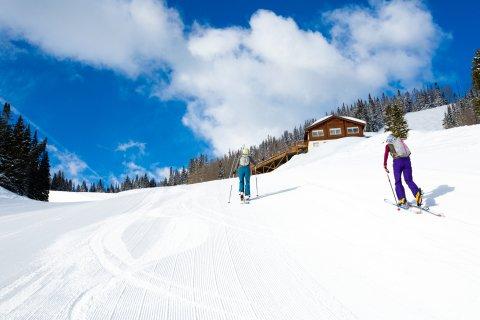 Ski Uphill in Aspen