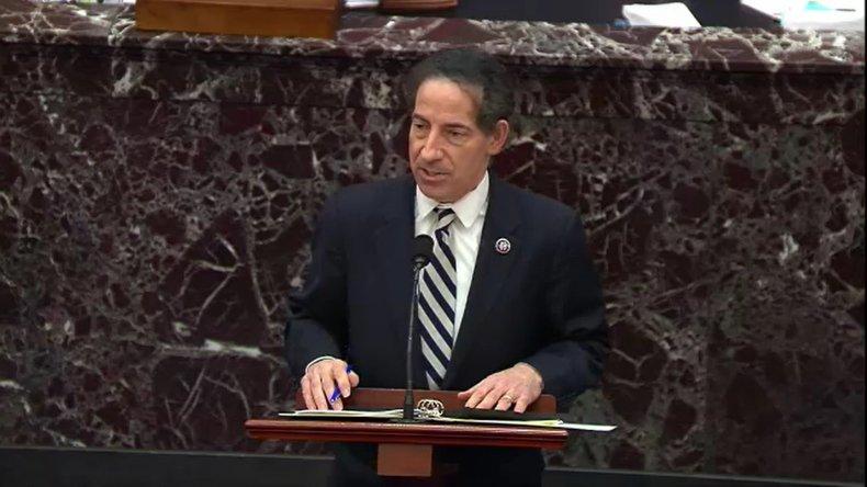 Lead House impeachment manager Rep. Jamie Raskin