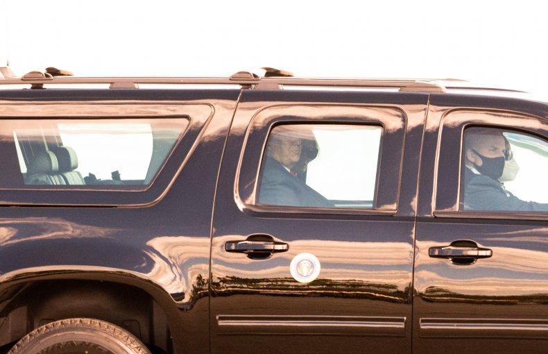 Donald Trump Leaves Florida Airport in Car
