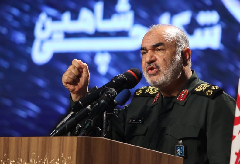 IRGC chief Hossein Salami speaks in Tehran
