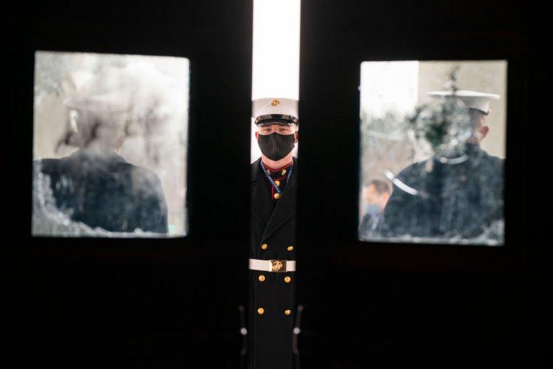 White House Marine sentries