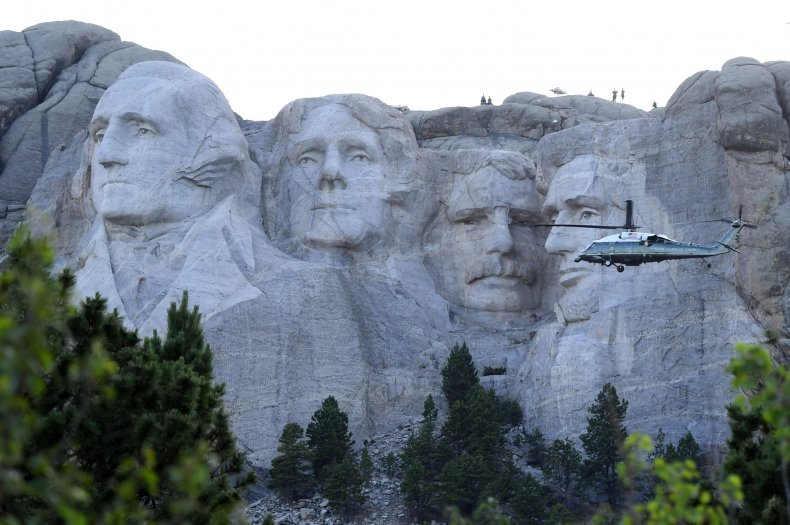 Mount Rushmore U.S. presidents July 2020