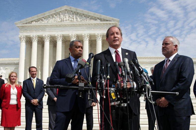 Texas Attorney General Ken Paxton in Washington