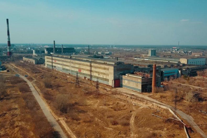 Soviet chemical factory in Dzerzhinsk Russia