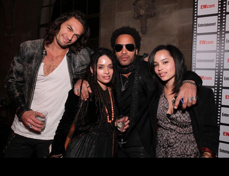 Jason Momoa, Lisa Bonet, Lenny zoe Kravitz
