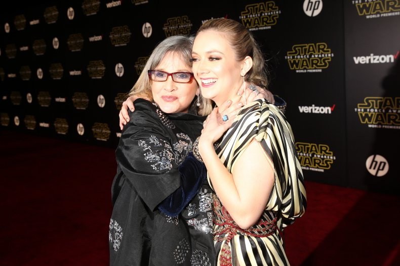 Carrie Fisher (L) and Billie Lourd