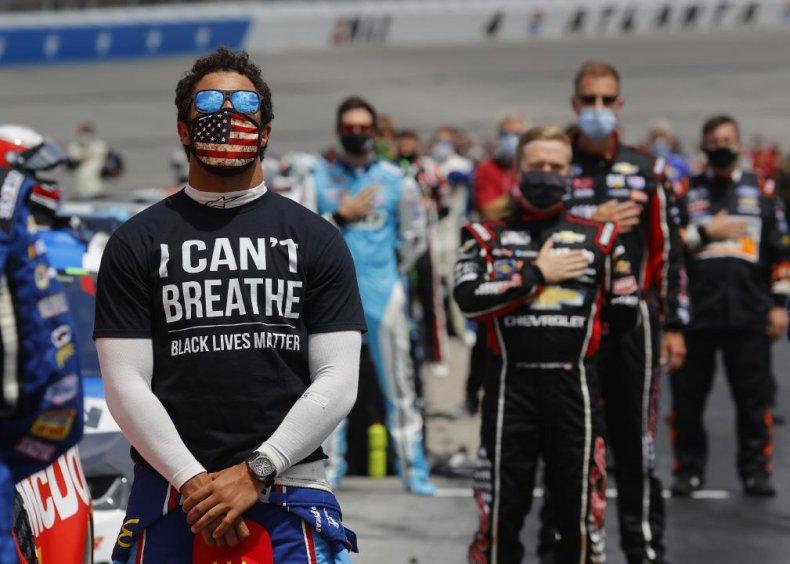 Bubba Wallace calls on NASCAR to ban the Confederate flag