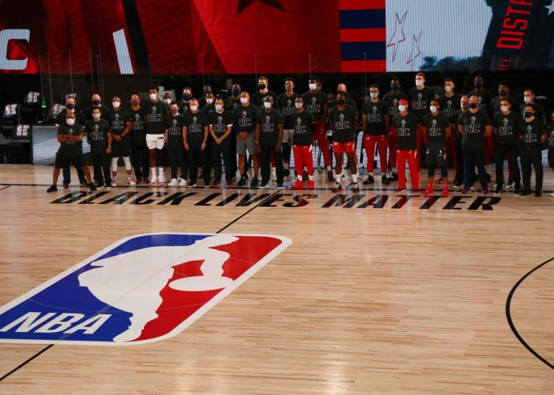 Basketball players support Black Lives Matter on and off the court