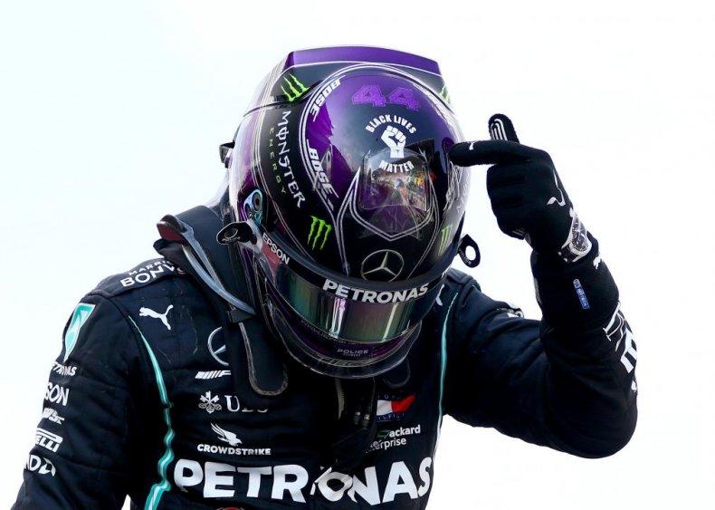 Race car driver Lewis Hamilton brings Black Lives Matter to British racing