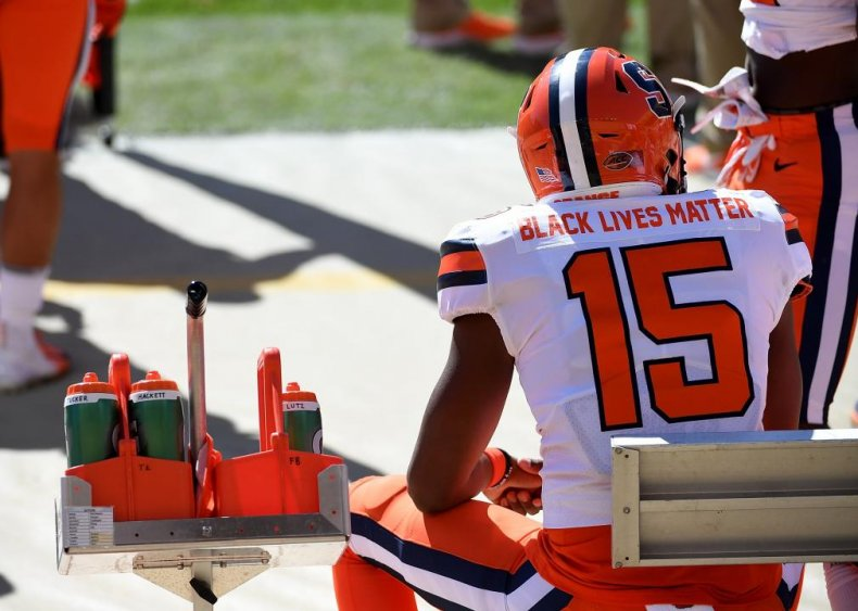 College football players join activism
