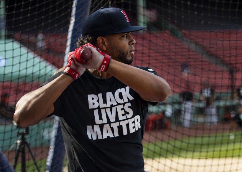 Boston Red Sox player wears BLM shirt