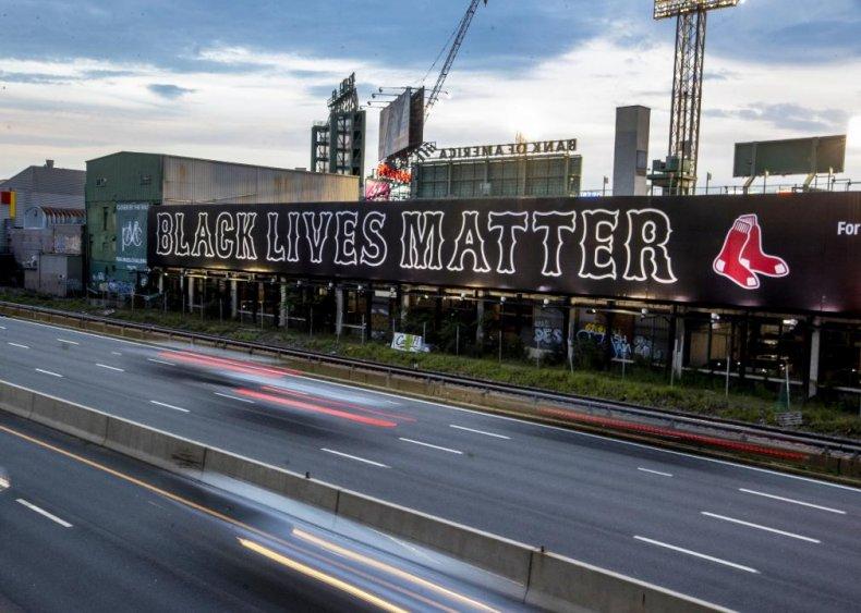 Red Sox display Black Lives Matter sign
