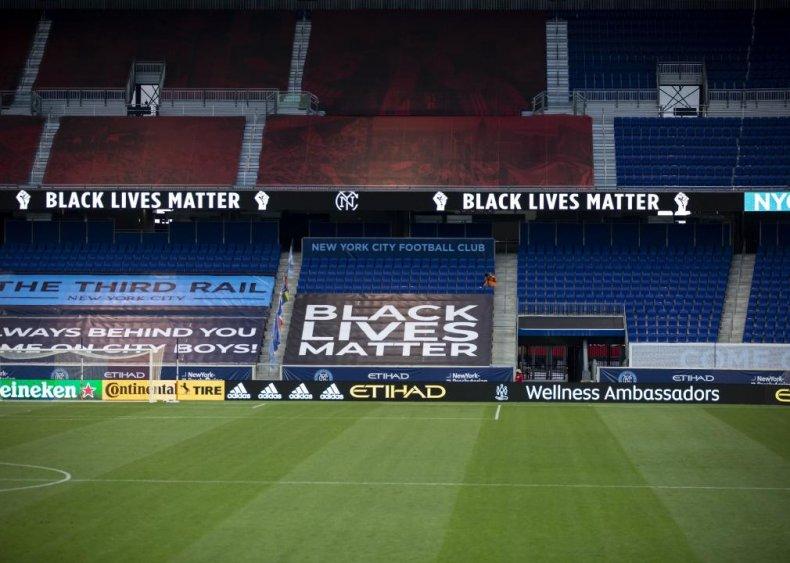 Major League Soccer teams support Black Lives Matter