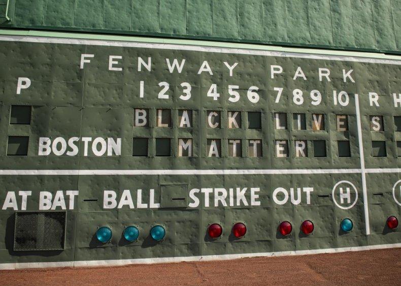 Fenway Park scoreboard reads Black Lives Matter