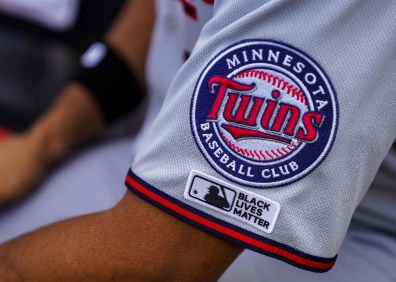 Minnesota Twins wear Black Lives Matter patch