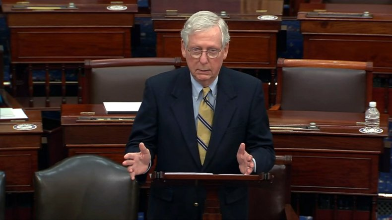 Mitch McConnell on Senate Floor amid Impeachment