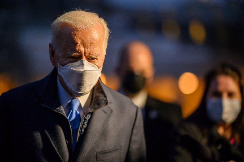 Joe Biden leaving the White House