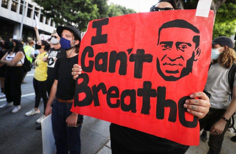George Floyd protest in Los Angeles