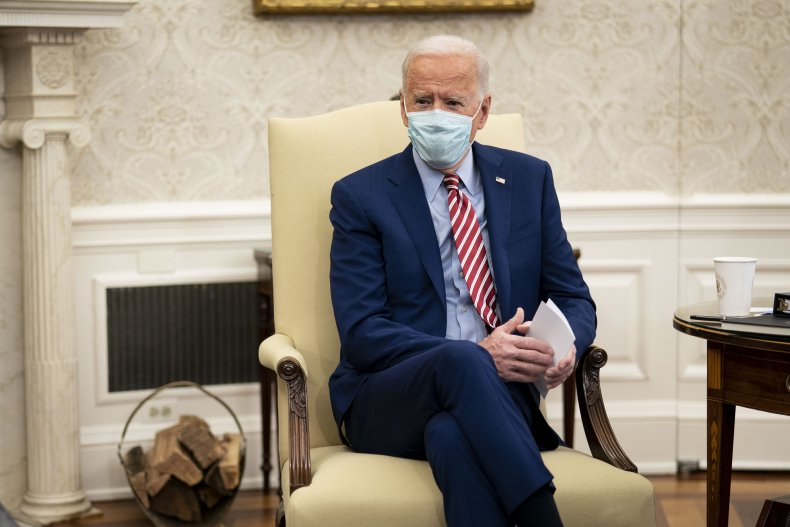 Joe Biden in the Oval Office
