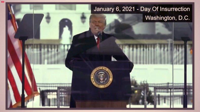 Donald Trump Senate Impeachment Video Evidence Screenshot