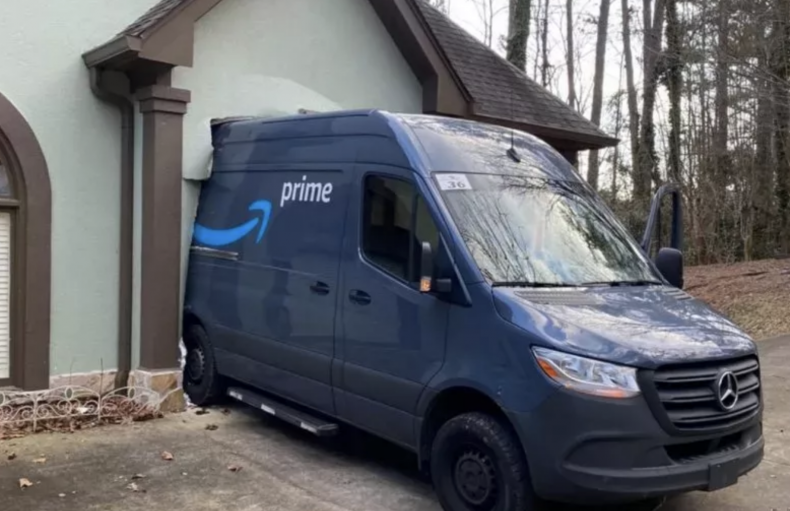 Amazon truck crash
