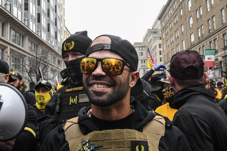 Proud Boys gleeful after Trump acquitted