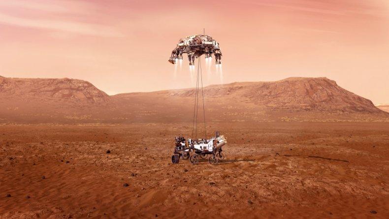 NASA's Perseverance rover landing on Mars