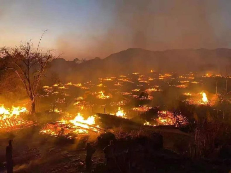 Chinese Village Razed to Ground By Fire