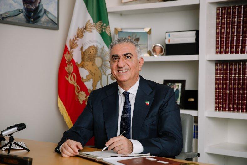 Reza Pahlavi at his desk in DC
