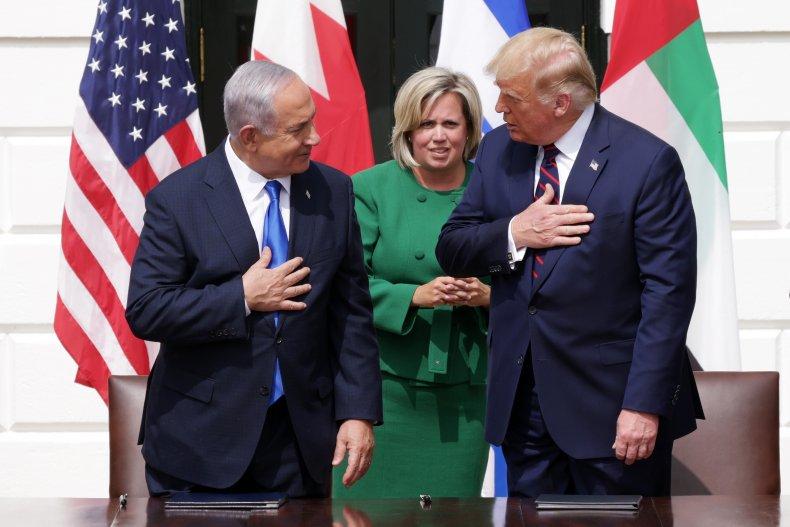 Trump and Netanyahu at Abraham Accords event