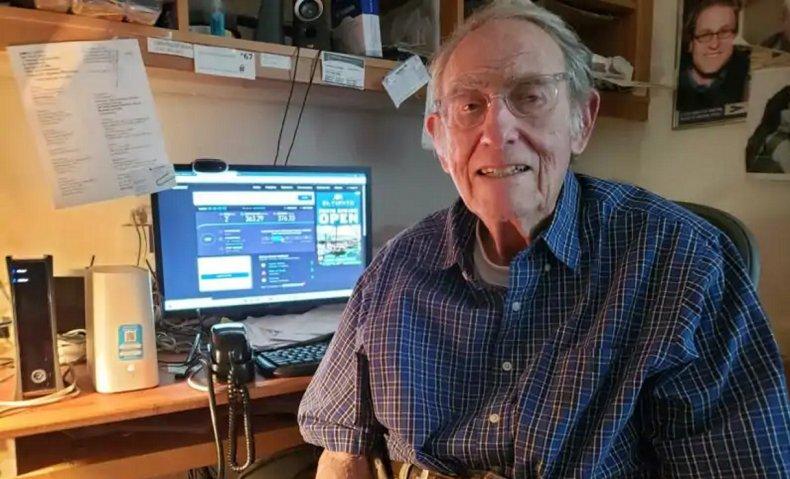 Aaron Epstein at his desktop computer
