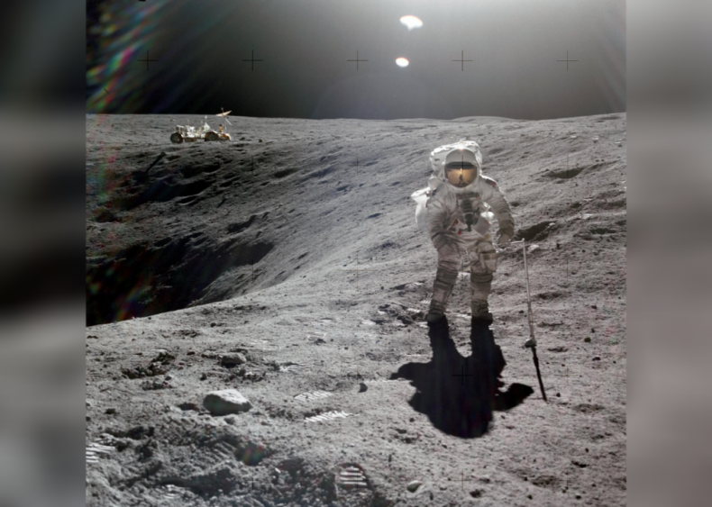 The lunar surface is solid
