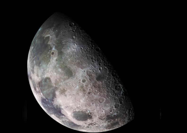 The moon is asymmetrical