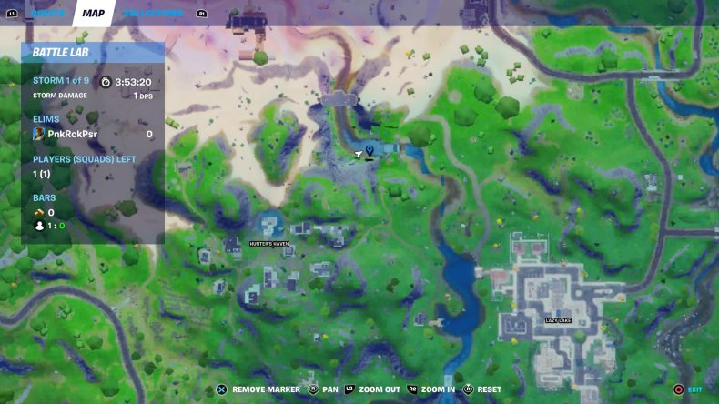 fortnite gorgeous gorge location map