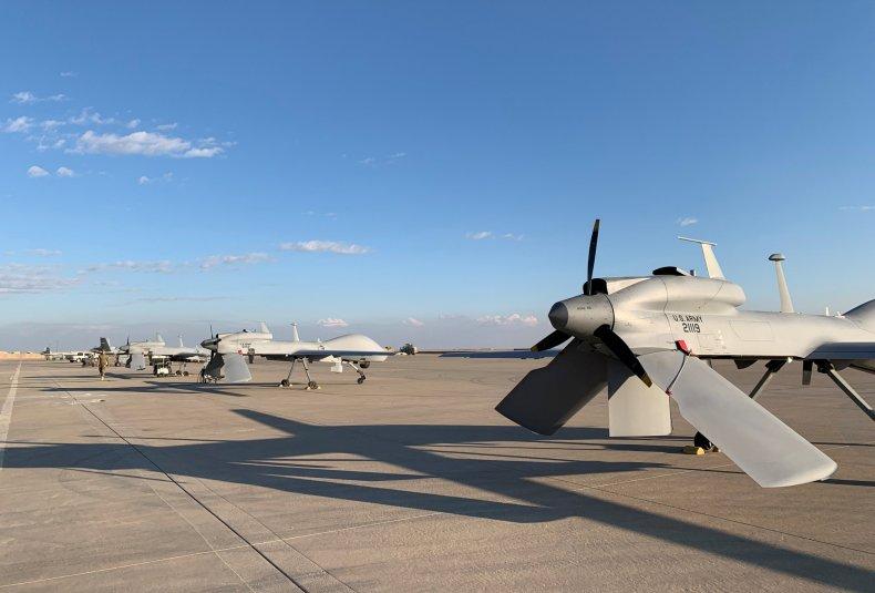 U.S. Army drones at Ain al-Asad airbase