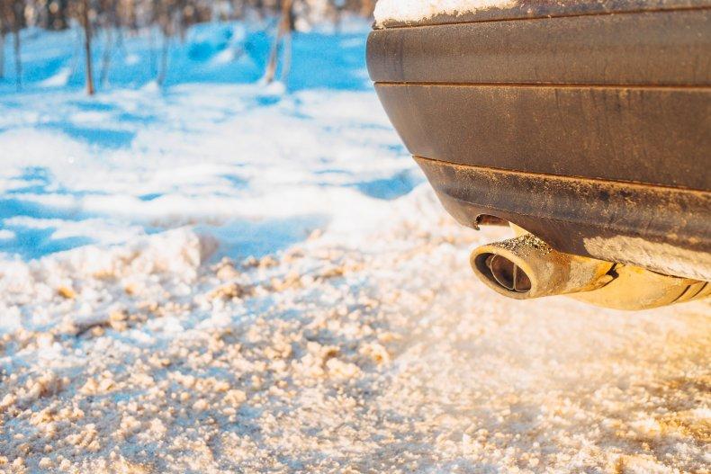Car exhaust emitting carbon monoxide