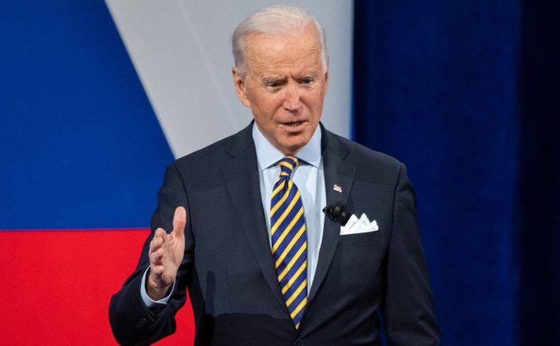 Joe Biden speaks during CNN town hall