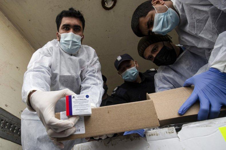 Sputnik V vaccine doses arrive in Gaza