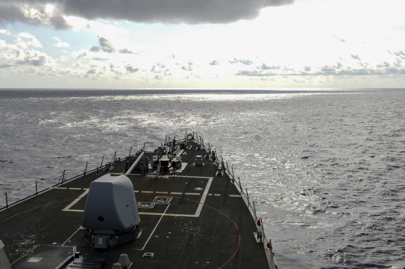Navy Destroyer Operates in South China Sea
