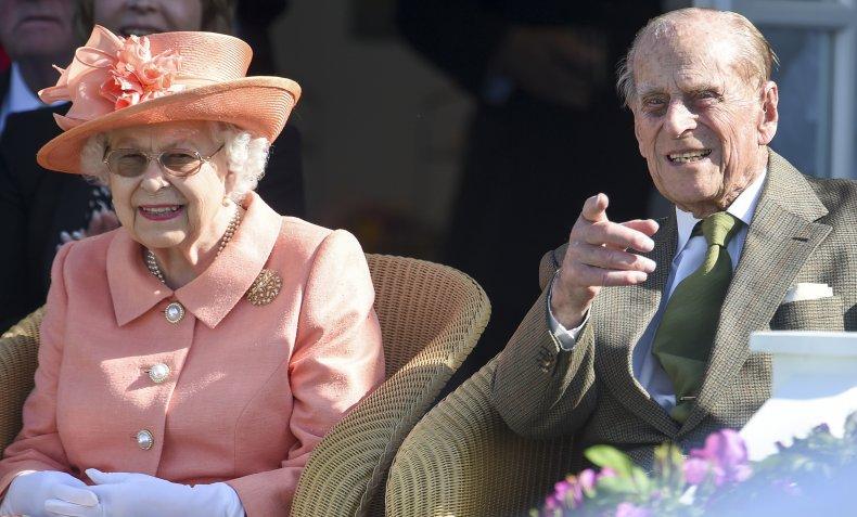 Queen Elizabeth II With Husband Prince Philip