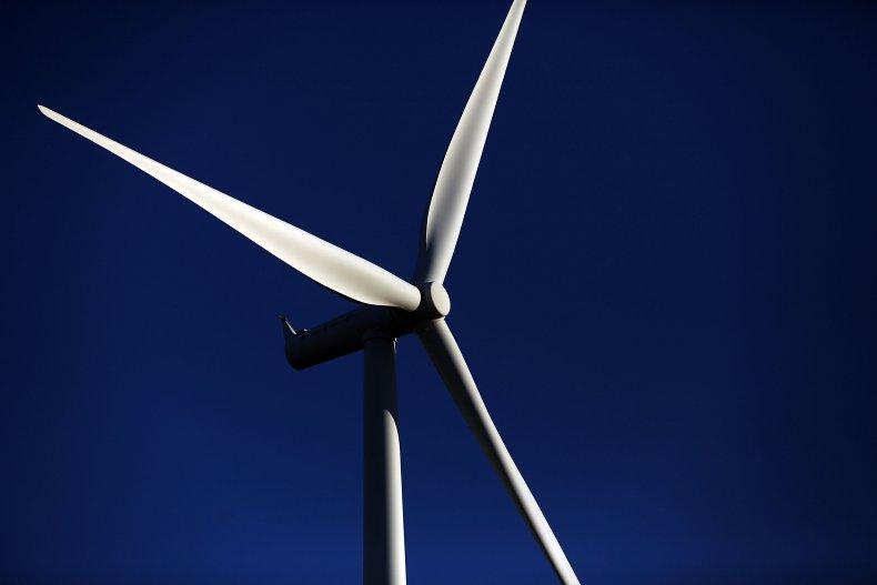 A wind turbine in Texas