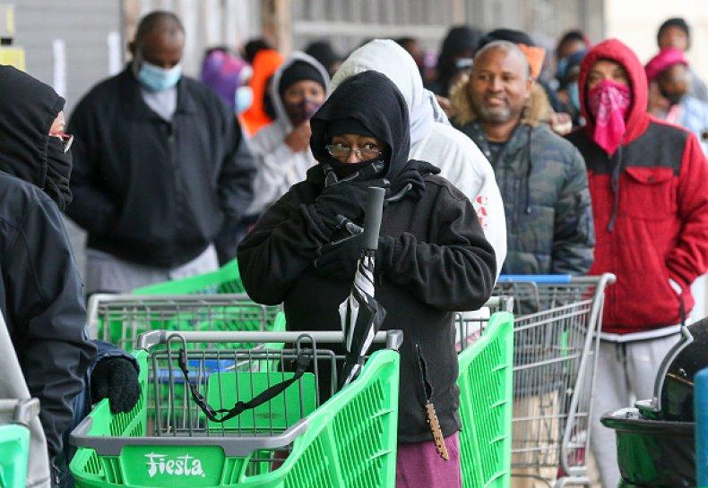 Freezing Weather at Houston Stores