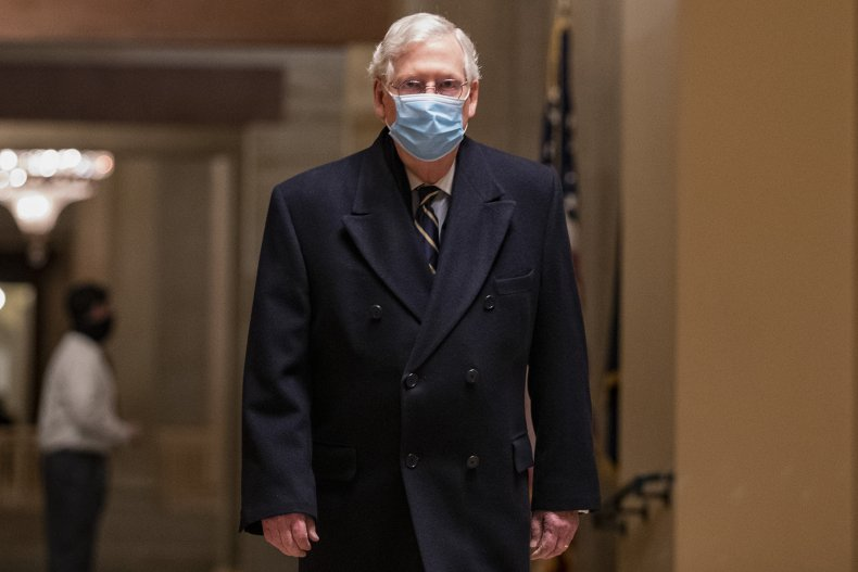 mitch mcconnell leaving the capitol
