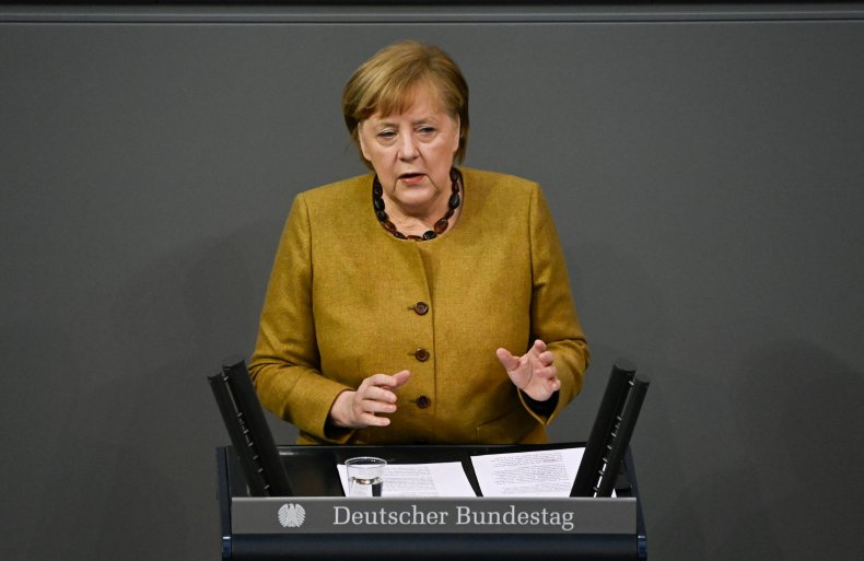 Angela Merkel addresses Bundestag
