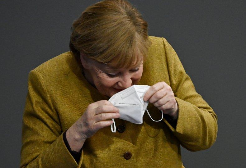Angela Merkel face mask