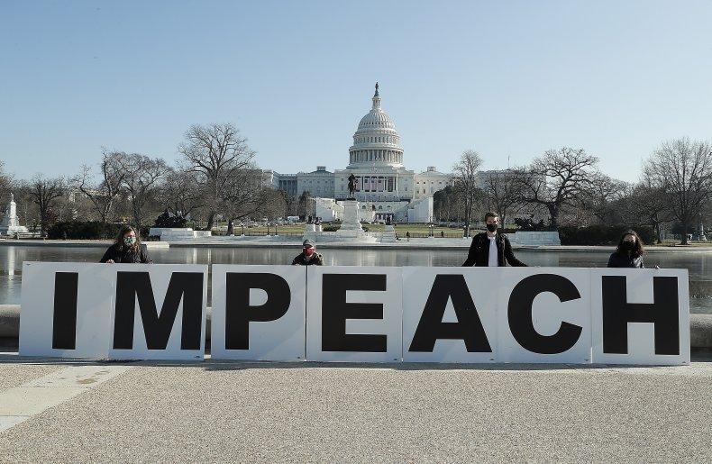 trump impeachment signs US Capitol