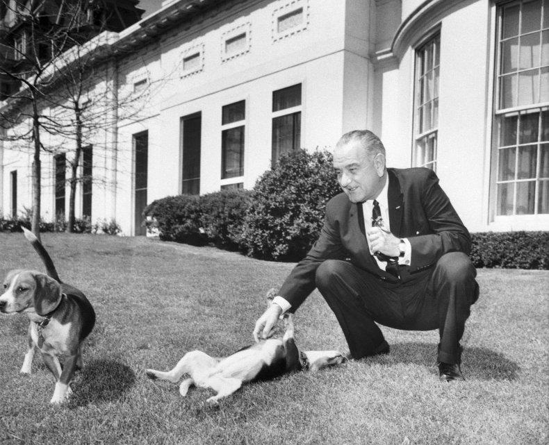 Lyndon B. Johnson Him and Her