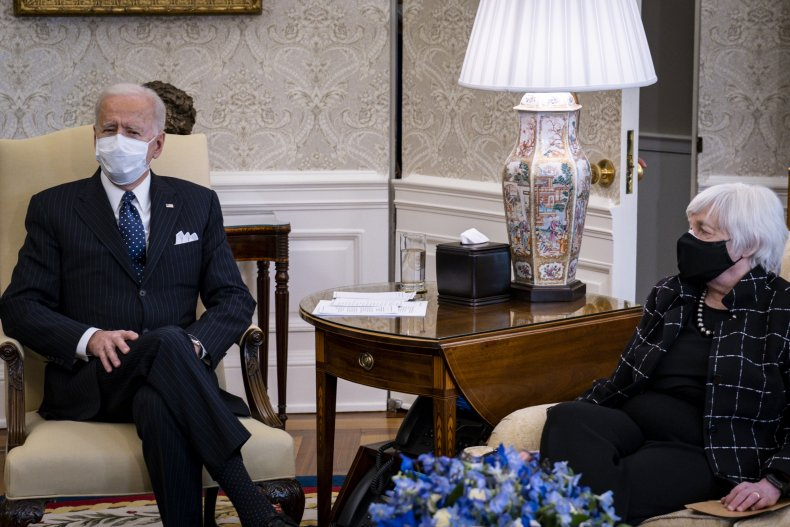President Joe Biden and Secretary Janet Yellen